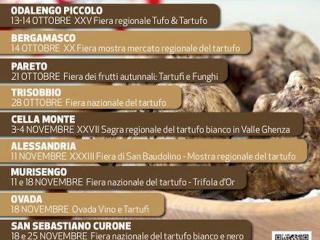 Fiere regionali del tarufo in Alessandria&Monferrato