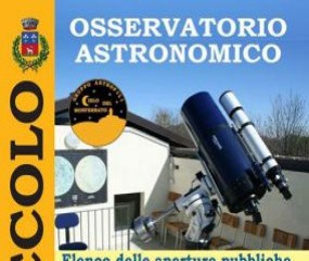 Astronomical Observatory of Odalengo Piccolo DATE OF 7 NOVMEBER CANCELLED
