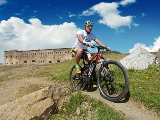 CROSS-BORDER<br/>Mediterranean Alps cycle route<br/>Tour of the Forts variant